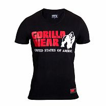 "Футболка ""Utah V-Neck"" Gorilla wear Черный"